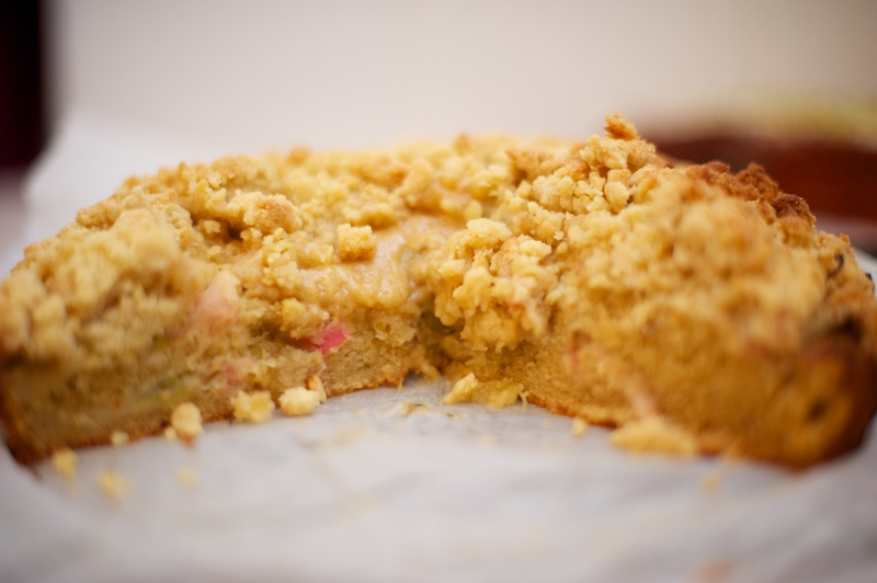 NBBO - GF Rhubarb and Custard Crumble Cake